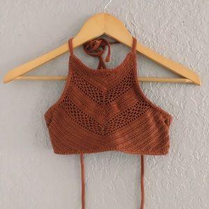 Other - Knit burnt orange bikini top